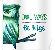 Owl Ways Be Wise Poster