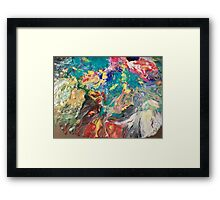 Abstract blown color Framed Print