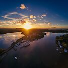 Noosa Marina Sunset 1 by Sam Frysteen