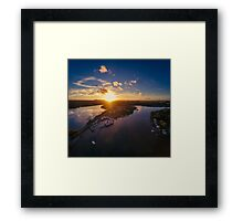 Noosa Marina Sunset 1 Framed Print