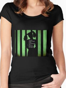 Harley Quinn Green Women's Fitted Scoop T-Shirt