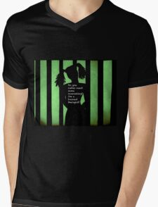 Harley Quinn Green Mens V-Neck T-Shirt
