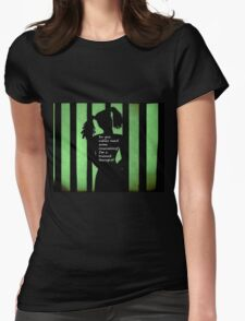 Harley Quinn Green Womens Fitted T-Shirt