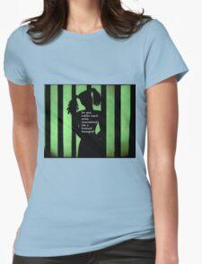 Harley Quinn Green Womens Fitted T-Shirt