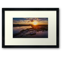 Noosa Marina Sunset 2 Framed Print
