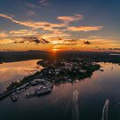 Noosa Marina Sunset 3 by Sam Frysteen