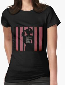 Harley Quinn Red Womens Fitted T-Shirt