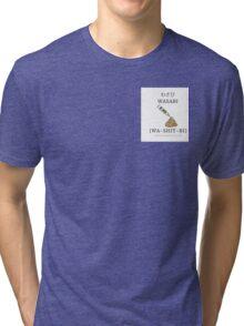 Singlish Pictorial: Wasabi, Wa-shit-bi Tri-blend T-Shirt