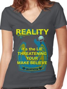 Reality Women's Fitted V-Neck T-Shirt