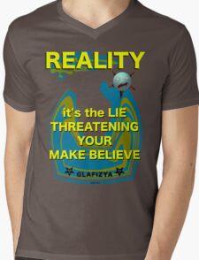 Reality Mens V-Neck T-Shirt