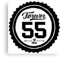"Forever 55 ""The Freak"" Black Imprint Commemorative Art Canvas Print"