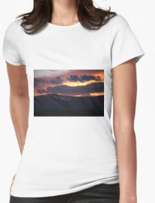 Burning Sky.  Womens Fitted T-Shirt