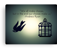 Bird or Cage? Canvas Print