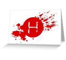 Comic Con Hall H Blood Splatter Greeting Card