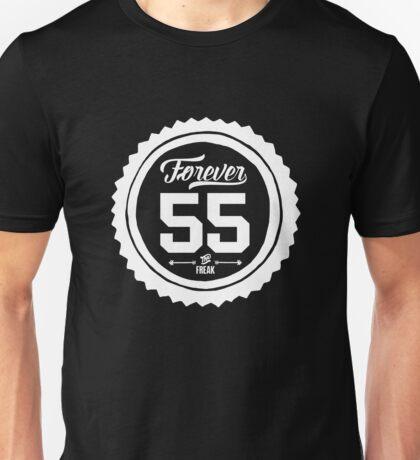 """Forever 55 Forever 55 """"The Freak"""" White Imprint Commemorative Art Unisex T-Shirt"""
