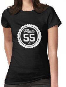 """Forever 55 Forever 55 """"The Freak"""" White Imprint Commemorative Art Womens Fitted T-Shirt"""