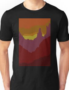 Abstract Sunset Landscape Mountain Scene Unisex T-Shirt