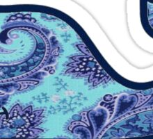blue and purple paisley whale Sticker