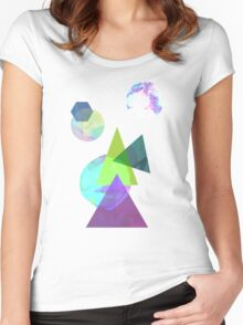 Abstract 5 Women's Fitted Scoop T-Shirt