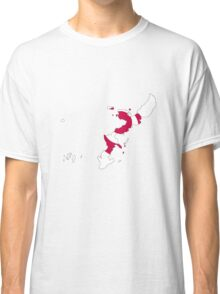 Flag Map of Okinawa Prefecture  Classic T-Shirt