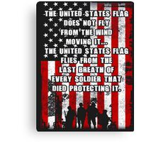 The united states flag does not fly from the wind moving it - T-shirts & Hoodies Canvas Print