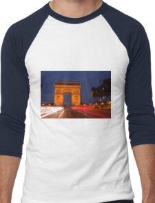 Traffic at Arc de Tiromphe Men's Baseball ¾ T-Shirt