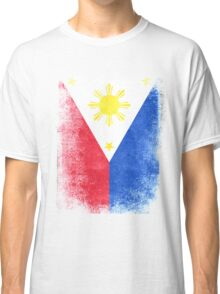 Philippines Flag Proud Filipino Vintage Distressed Shirt Classic T-Shirt