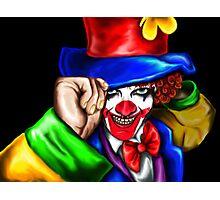 Mad Clown Photographic Print