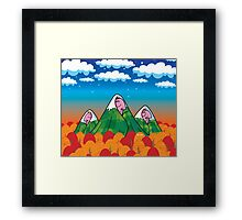 Sleeping giants Framed Print