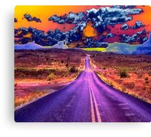 Psychedelic Road Scene Canvas Print