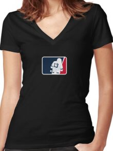 Dempster Vs. A-Rod Commemorative Women's Fitted V-Neck T-Shirt