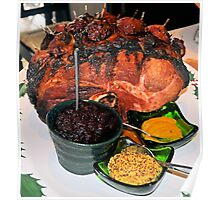 Christmas Ham With Nectarines and Trimmings Poster