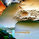 Incredible sandstone cliff. by ronsphotos