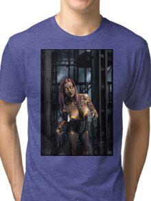 Cyberpunk Painting 078 Tri-blend T-Shirt
