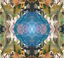 Mirror Art Blue Sphere by ZugArt