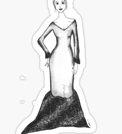 Evening Gown  Sticker