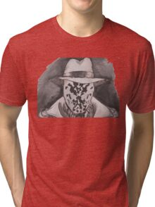 Watchmen - Rorshach Ink Portrait Tri-blend T-Shirt