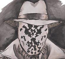 Watchmen - Rorshach Ink Portrait by taylorstarnes