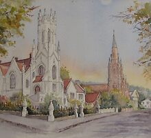 Chalmers Church Launceston by Muriel Sluce by Wendy Dyer
