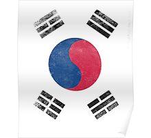 South Korea Flag Proud Korean Vintage Distressed Shirt Poster
