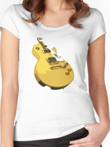 Guitar Vintage Women's Fitted Scoop T-Shirt