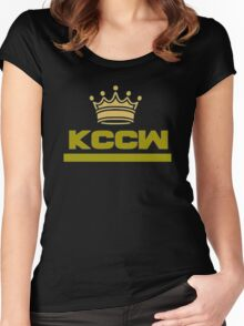 "KCCW ""Crown"" Women's Fitted Scoop T-Shirt"