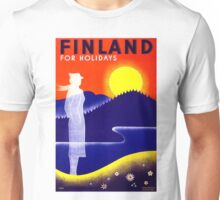 Vintage Finland Travel Poster Unisex T-Shirt