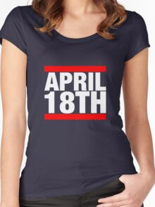 Jim Jefferies April 18th Shirt Women's Fitted Scoop T-Shirt