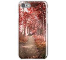 Autumn in a surreal place iPhone Case/Skin