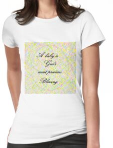 A Baby is God's Most Precious Blessing Womens Fitted T-Shirt