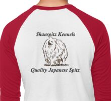 Shanspitz Kennels BLACK FONT Men's Baseball ¾ T-Shirt