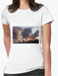 Salmon Sky Womens Fitted T-Shirt