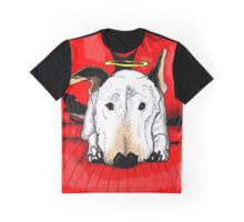Bull terrier with a halo on the couch Graphic T-Shirt