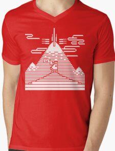 JOURNEY END MURAL Mens V-Neck T-Shirt